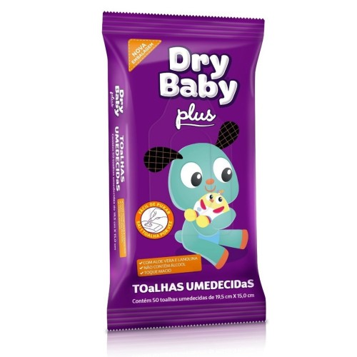 TOALHAS DRY BABY PLUS  PACT C/50