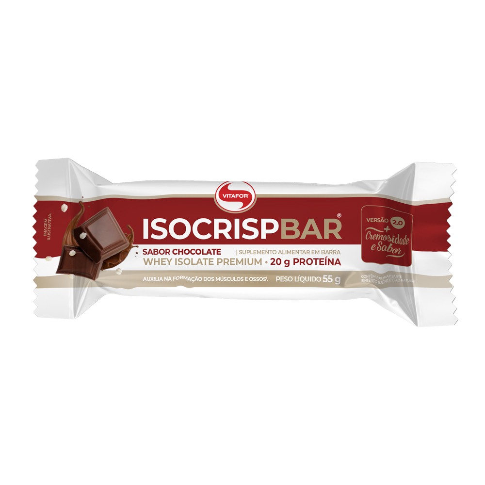 ISOCRISP BARRA 55G SABOR CHOCOLATE